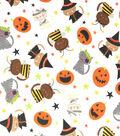 Doodles Halloween Interlock Cotton Fabric 57\u0022-Dressed Up Cats