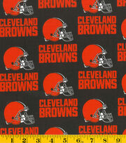 Cleveland Browns Cotton Fabric 58''-Helmet Logo, , hi-res