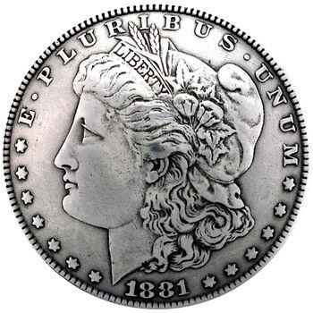 Silver Creek Concho Antique Silver Morgan Dollar Heads
