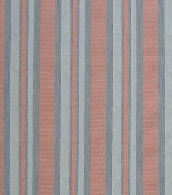Linen & Linen Look Fabric 56''-Coral Stripes
