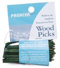 Panacea 2-1/2\u0022 Wired Wood Floral Picks-60PK/Green