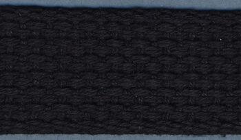 """Cotton Belting 1"""" Wide 10 Yards-Black"""