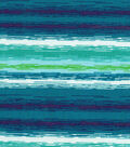 Keepsake Calico™ Cotton Fabric 43\u0022-Peacock Stripe