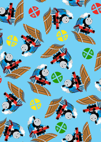 "Thomas The Tank Engine Fleece Fabric 59""-Thomas And Signs"