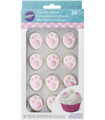 Wilton® Easter 24 pk 2.4 oz. Bunny Feet Icing Decorations