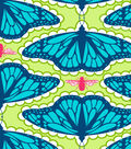 Premium Cotton Fabric-Patty Young In Flight Teal