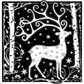 Crafty Individuals Unmounted Rubber Stamp Magical Reindeer