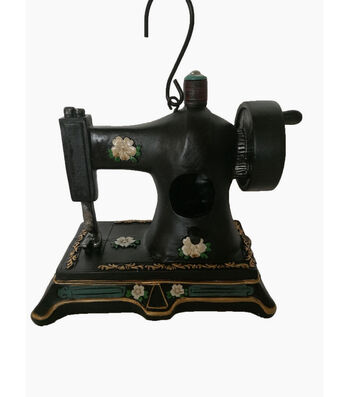 Hello Spring Gardening Resin Sewing Machine Birdhouse