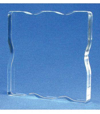 Acrylic StampBlock W/Grips 2.25X2.25-2.25x2.25x.5