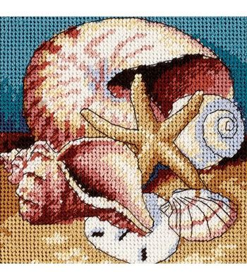 Dimensions Mini Needlepoint Kit Shell Collage