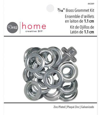 "Dritz Home 0.44"" Metal Grommet Kit Silver"