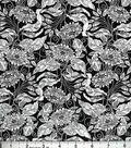Buttercream Audrey Collection Cotton Fabric-Black/White Floral