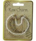Naturals Raw Charm Brown Cream Necklace