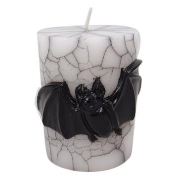Maker's Halloween 3''x4'' Pillar Candle-Black Bat Icon