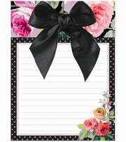 Anna Griffin Grace Blk Floral Notepad, , hi-res
