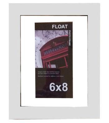 Wood Float Frame 6x8-White