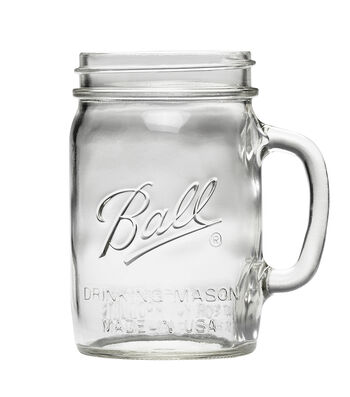 Ball Wide Mouth Glass 24oz Mason Beverage Jar With Handle-6pk