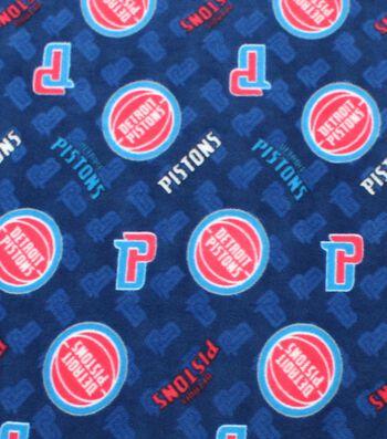 """Detroit Pistons Fleece Fabric 58""""-Logo Toss"""