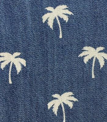 Sportswear Denim Fabric 57''-Palm Tree