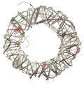 Blooming Spring 11.8\u0027\u0027 Twig Wreath-White