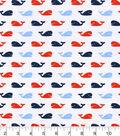 Nursery Flannel Fabric 42\u0022-Nautical Whales