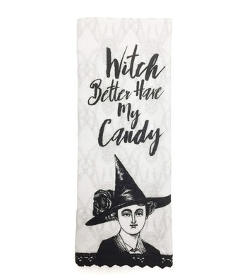 Maker's Halloween Velour & Terry Hand Towel-Witch Better Have My Candy