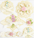 Jolee\u0027s Boutique Around The World Stickers-Layered Doilies With Bows