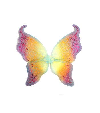 Maker's Halloween Child Glitter Wings-Rainbow