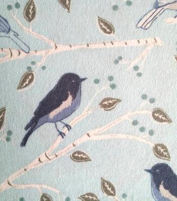 "3 Yard Pre-Cut Snuggle Flannel Fabric 42""-Blue Bird Branches"