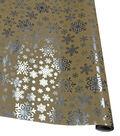 Holiday Cheer Gift Wrap Silver Dot On Kraft Giftwrap