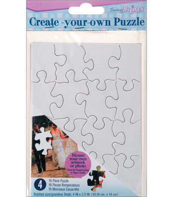 "Color Your Own Puzzle 16 Pieces 4""X5"" 4/Pkg"