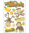 Paper House 3D Stickers-Little Monkey
