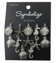 hildie & jo Symbolize 12 Pack Sea Life Silver Charms, , hi-res