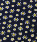 Blizzard Fleece Fabric 59\u0022-Daisies On Navy