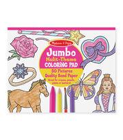 Pink -jumbo Coloring Pad, , hi-res