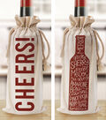 DCWV Home 6\u0027\u0027x8\u0027\u0027 Press & Apply Transfer-Wine Bottle Art