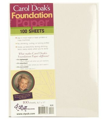 "Carol Doak's Foundation Paper-8-1/2""x11"" 100/Pkg"