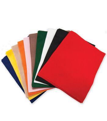 "Classic Soft Felt 9""X12"" 25/Pkg-Primary Colors"