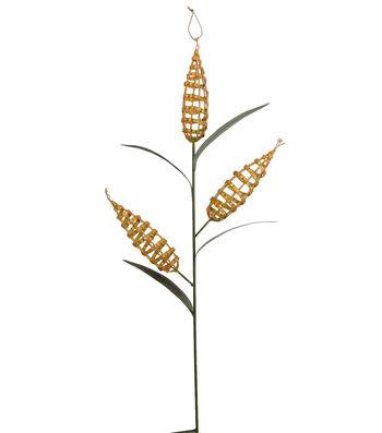Fall Into Color 35.5'' Metal Corn Yard Stake