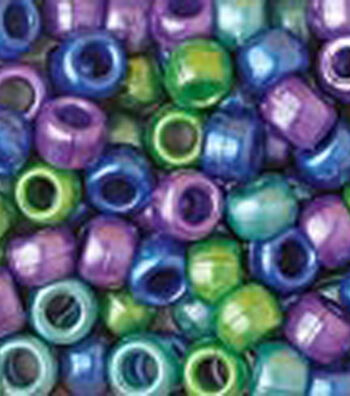 Pony Beads 6mmx9mm 415/Pkg-Cool Pearl Multi