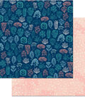 Down By The Sea Double-Sided Cardstock 12\u0022X12\u0022-Coral