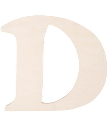 Darice 7'' Fancy Wood Letters-MANY LETTERS