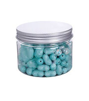 hildie & jo™ 4.58 oz. Assorted Fashion Beads in Plastic Jar-Green, , hi-res