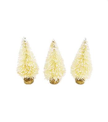 Maker's Holiday Christmas Littles 3 pk Sisal Trees-White