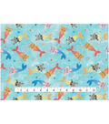 Novelty Cotton Fabric 44\u0022-Mermaid Kitties