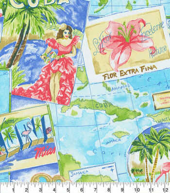 "P/K Lifestyles Outdoor Fabric 54""-Greetings from Paradise Tropics"