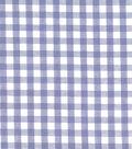 Homespun Cotton Fabric-Check Blue 0.25\u0022