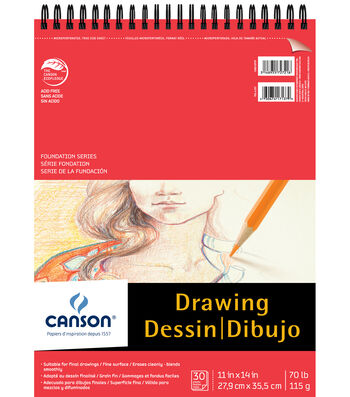Canson® 30 Sheets 11''x14'' Foundation Drawing Pad