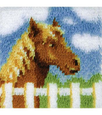 "Wonderart Latch Hook Kit 12""X12""-Pony"