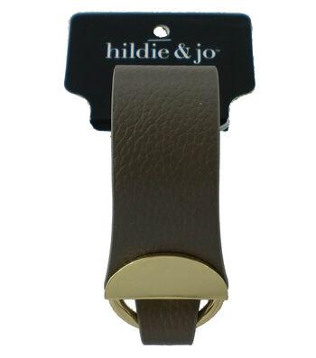 hildie & jo Wide Buckle Bracelet-Gold & Brown